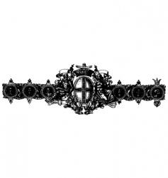 baroque ornament vector image
