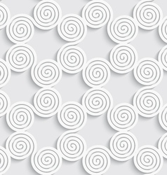 Abstract spiral seamless background with cut out vector image