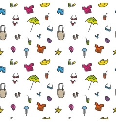 Hand drawn summer seamless pattern vector