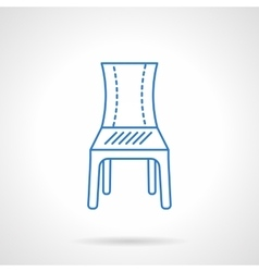 Seat blue flat line icon vector