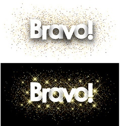 Bravo paper banners vector