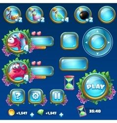 Set elements for Atlantis ruins GUI vector image