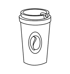Drink in plastic cup vector