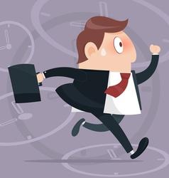 B Simple cartoon of a businessman running vector image