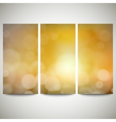 Blurry backgrounds set with bokeh effect Abstract vector image