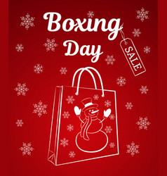 boxing day sale of a vertical banner or card a vector image vector image