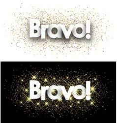 Bravo paper banners vector