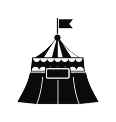Circus tent black simple icon vector