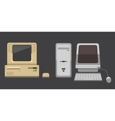 Computer evolution vector image vector image