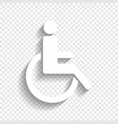Disabled sign white icon vector