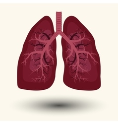 Human Lung icon vector image vector image