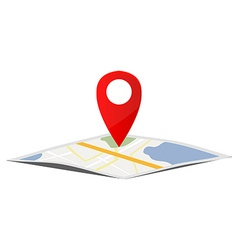 Map pointer navigation vector image