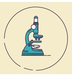 Microscope vintage retro line art lab tools vector