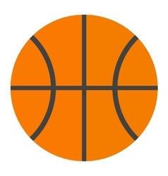 Orange basketball ball vector image