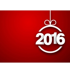 Paper 2016 new year ball vector image