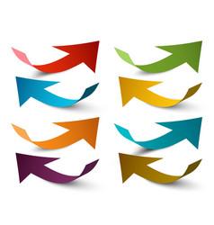 Paper arrows colorful arrow set vector