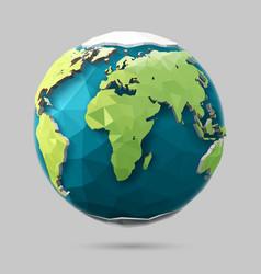 Polygonal globe icon vector