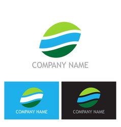 shape abstract ecology logo vector image