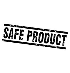 Square grunge black safe product stamp vector