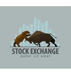 Stock exchange business finance flat vector