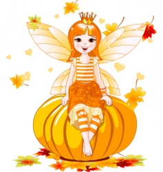 thanksgiving fairy vector image vector image