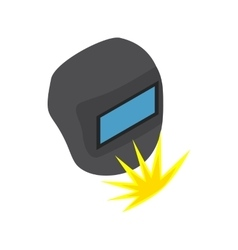 Welding mask icon isometric 3d style vector