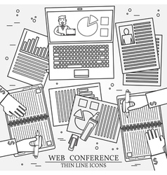 Wibinar web conference concept icon thin line for vector image