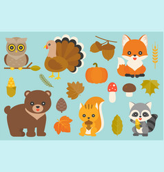 Wild animal and elements vector