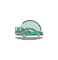Time machine icon vector