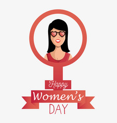 Happy womens day poster vector