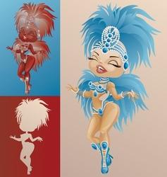 Rio carnival queen vector