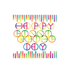Happy friendship day lettering vector
