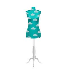 Blue female tailors dummy mannequin vector