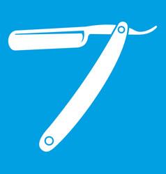 Razor blade icon white vector