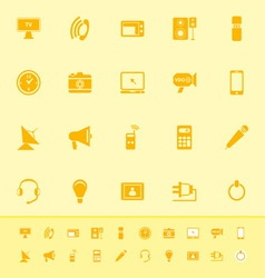 Electronic color icon on yellow background vector