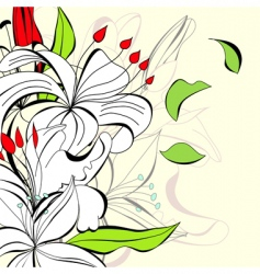 romantic background with flowers vector image