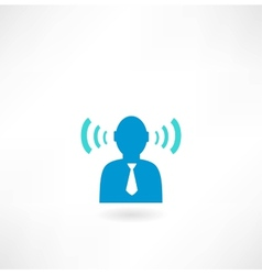 People icon with radio waves vector