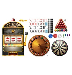 Casino machines and games vector