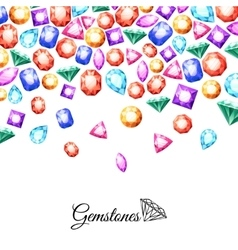 Gemstones background vector