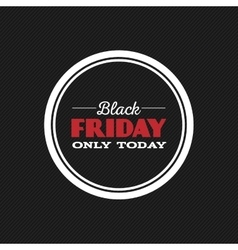 Black friday label vector