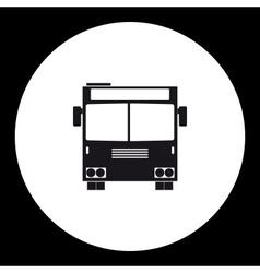 Simple front view school bus public transpor icon vector