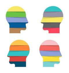 human face infographic Set if 8 steps of thinking vector image