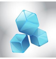 Blue cubes vector