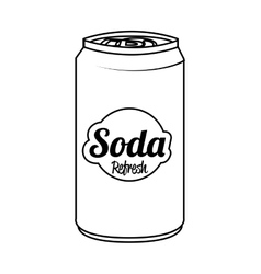 Soda can isolated flat icon vector