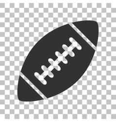 American simple football ball Dark gray icon on vector image vector image