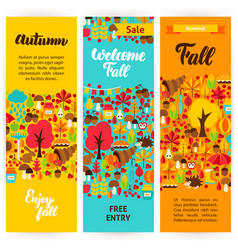 autumn vertical flyers vector image vector image