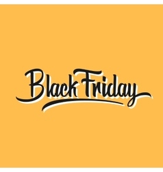 Black Friday Hand Lettering vector image vector image