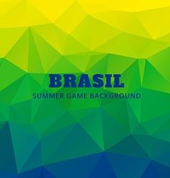 Brazil soocer game background vector
