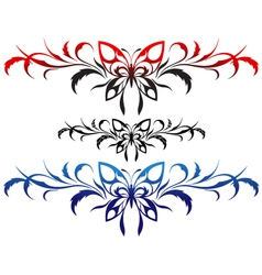 butterflies tribal vector image