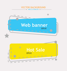 color web banners vector image vector image